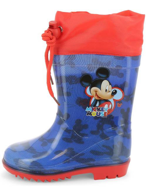 bottes de pluie 39 mickey mouse 39 de 39 disney 39 gar on bleu rouge kiabi 15 00. Black Bedroom Furniture Sets. Home Design Ideas