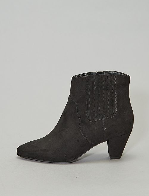 Bottines bouts pointus                                         noir