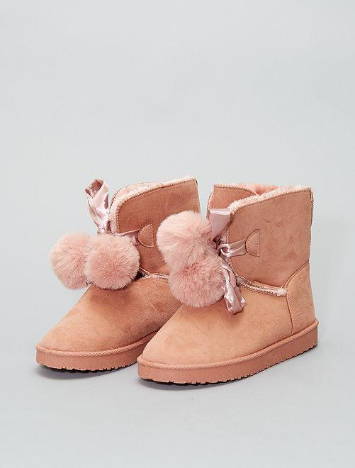 Bottines intérieur fourré                                                     rose Chaussures