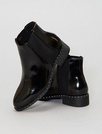Chaussures - Bottines irisées à clous - Kiabi