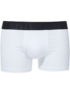 Boxer bicolore en coton stretch