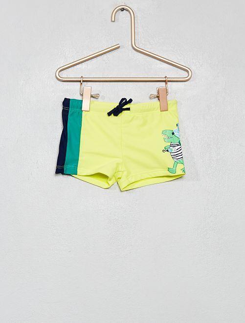Boxer de bain 'dinosaure'                                         jaune Garçon