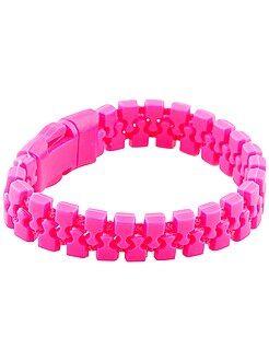Accessoires - Bracelet fluo effet zip