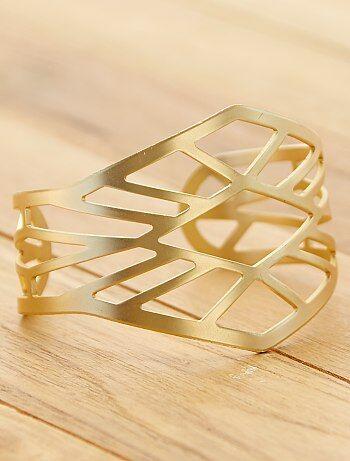 Bracelet manchette ajouré - Kiabi