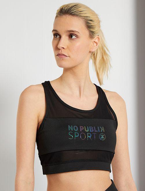 Brassière de sport 'No Publik'                             noir