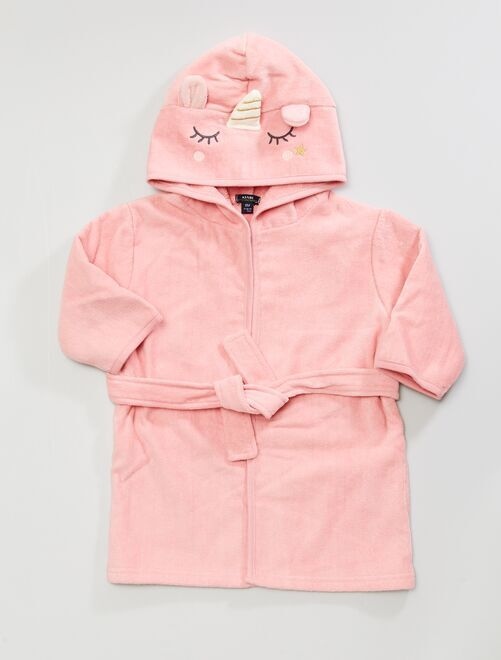 Cape de bain à capuche                                                     rose