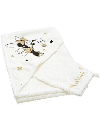 cape de bain gant en ponge 39 mickey 39 b b fille minnie kiabi 10 00. Black Bedroom Furniture Sets. Home Design Ideas