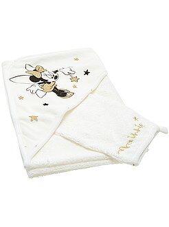 Chambre, bain - Cape de bain + gant en éponge 'Minnie'