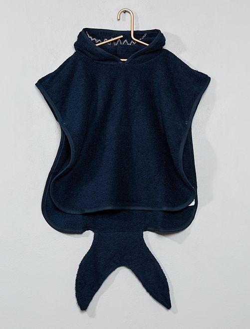 cape de bain 39 requin 39 en ponge b b gar on marine. Black Bedroom Furniture Sets. Home Design Ideas