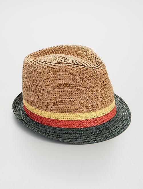 Chapeau borsalino                             beige/vert