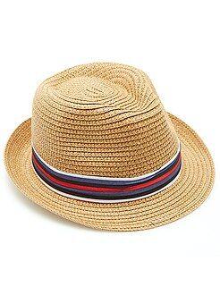 Accessoire - Chapeau borsalino ruban rayé