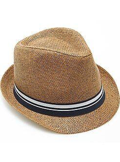 Chapeau borsalino ruban rayé