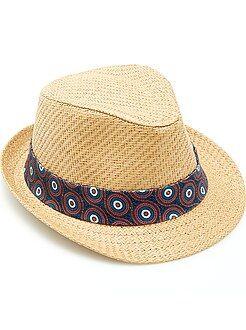 Chapeau borsalino ruban 'wax'