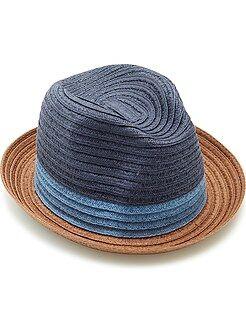 Maillot de bain, plage - Chapeau borsalino tricolore