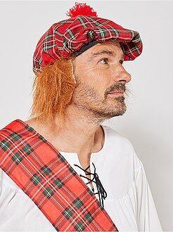 Accessoires - Chapeau écossais avec faux cheveux