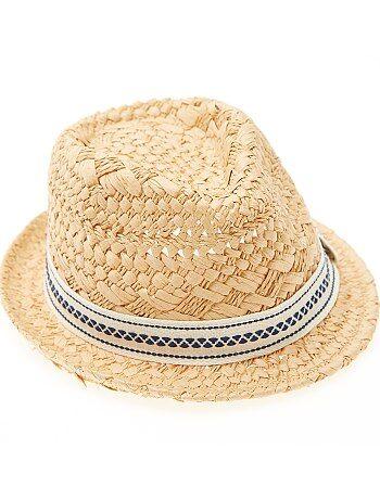 Chapeau paille forme borsalino - Kiabi