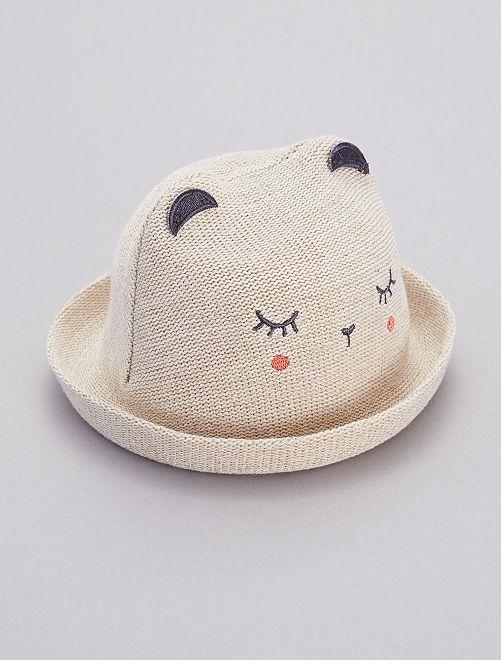 chapeau type paille souple b b fille beige kiabi 7 00. Black Bedroom Furniture Sets. Home Design Ideas
