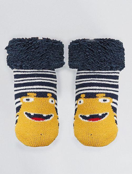 Chaussons chaussettes épaisses                                                     jaune