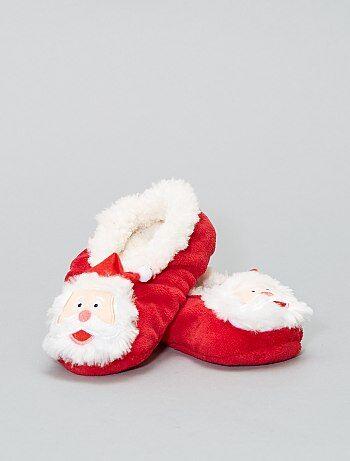 Chaussons fourrés de Noël - Kiabi