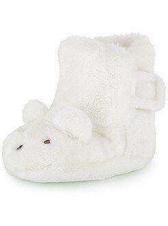 Chaussons fourrés lapin en 3D