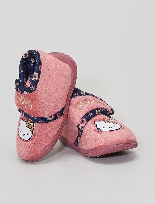 Chaussons 'Hello Kitty'                             rose