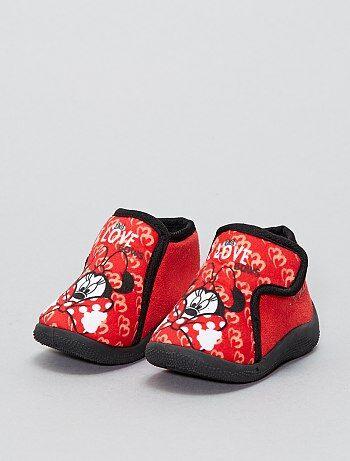 Chaussons montants à scratch 'Minnie' 'Disney' - Kiabi