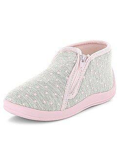 Chaussures bébé - Chaussons montants imprimés