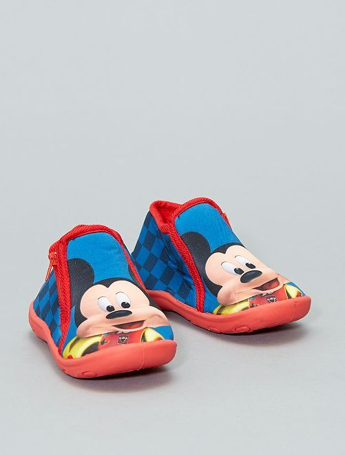 Chaussons montants 'Mickey'                             bleu Bébé garçon