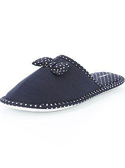 Chaussons mules noeuds et pois