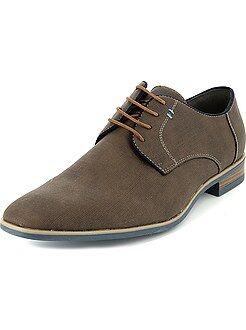 Chaussures de ville en simili effet tressé - Kiabi