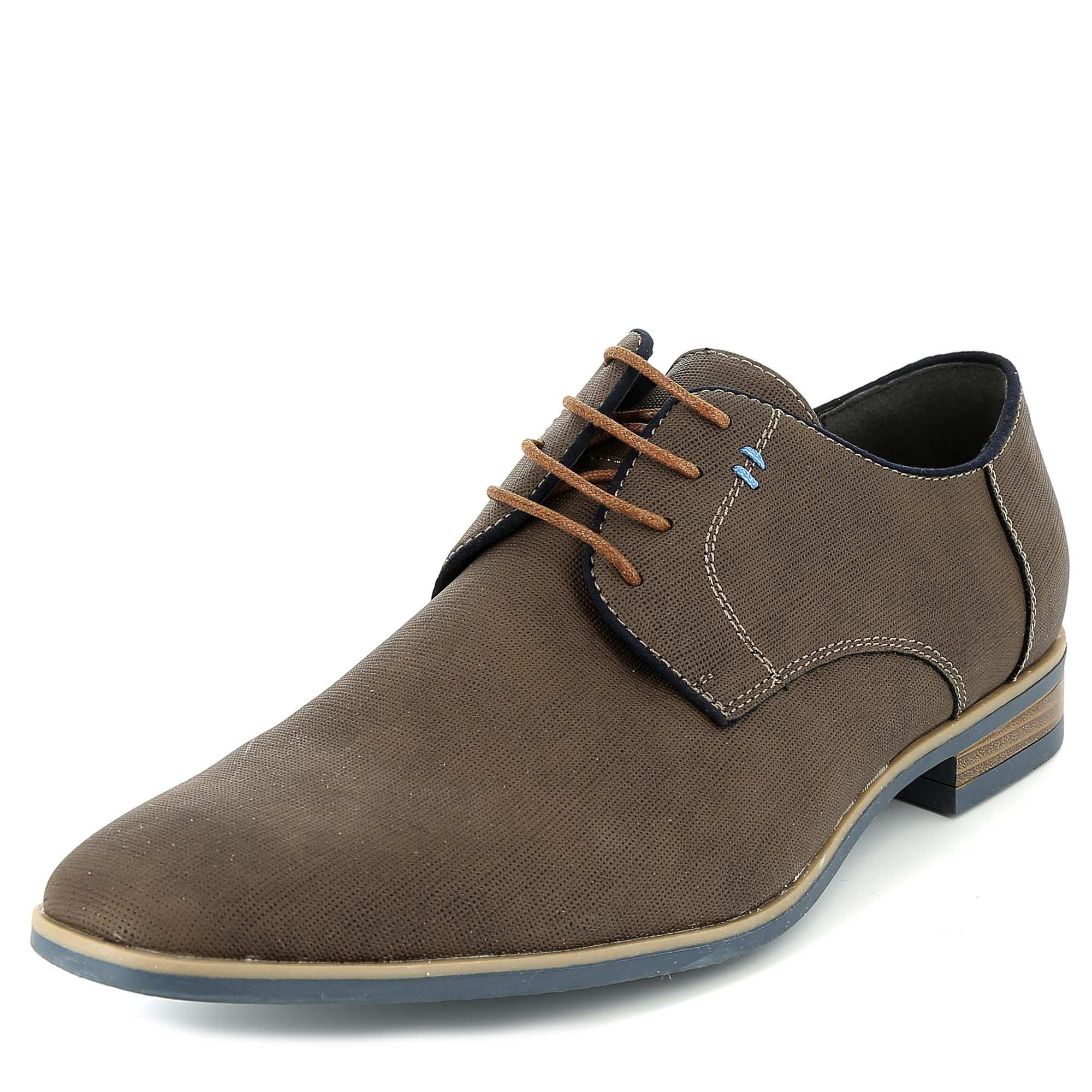 chaussures de ville en simili effet tress homme marron kiabi 28 00. Black Bedroom Furniture Sets. Home Design Ideas