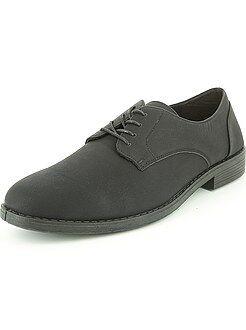 Homme du S au XXL Chaussures de ville noires en simili