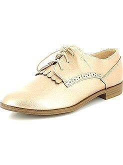 Chaussures derbies en simili