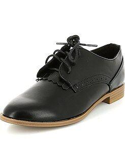 Chaussures derby en simili