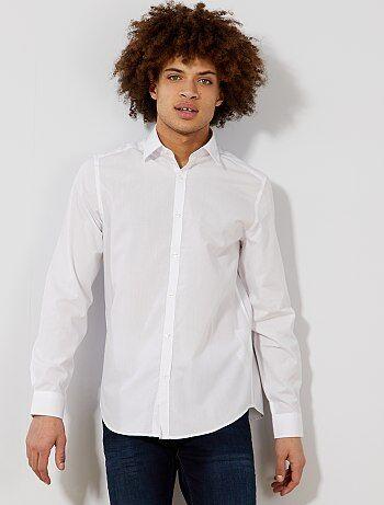 Chemise blanche unie coupe droite - Kiabi