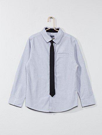 Chemise coton + cravate - Kiabi