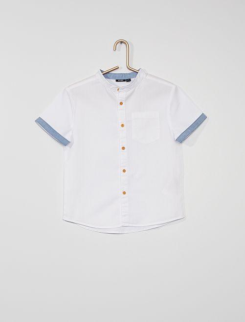 Chemise courte                                                     blanc