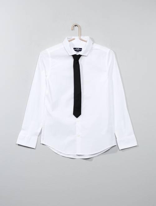 Chemise + cravate                                                                 blanc Garcon adolescent