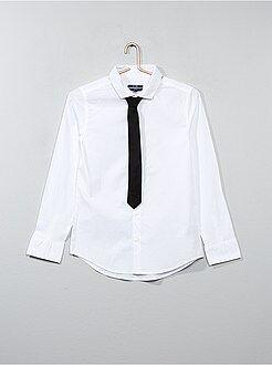Chemise manches longues - Chemise + cravate
