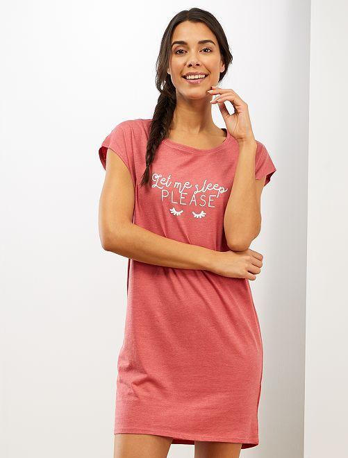 Chemise de nuit 'éco-conception'                                                                 rose