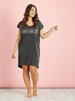 Grande taille femme Chemise de nuit en coton imprimé