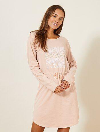 Chemise de nuit octobre rose - Kiabi