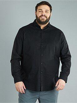 Chemise city - Chemise droite en coton piqué - Kiabi