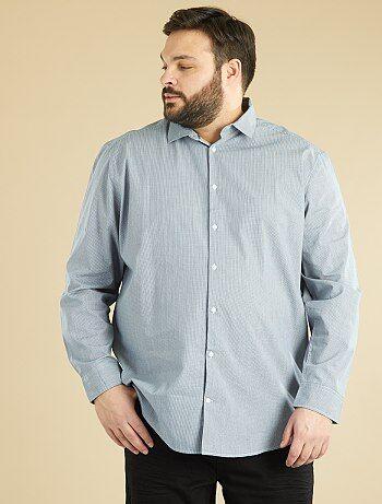 Chemise droite en popeline imprimée - Kiabi