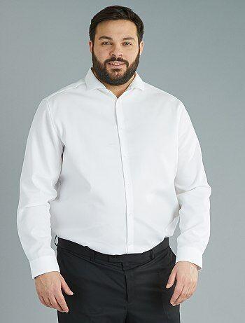Chemise droite fantaisie Easy Iron - Kiabi