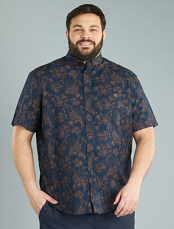 Grande taille homme - Chemise droite imprimé tropical - Kiabi