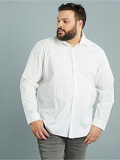Chemise droite imprimée en popeline