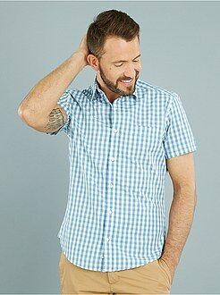 Homme du S au XXL Chemise droite popeline imprimée