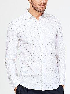 Chemise ajustée - Chemise en popeline coupe ajustée