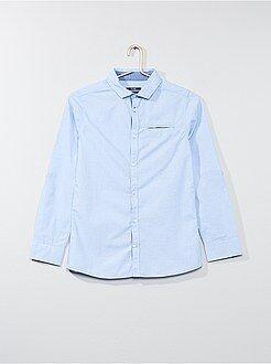 Chemise manches longues - Chemise en pur coton